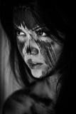 Agly okropny makijaż Zdjęcie Royalty Free
