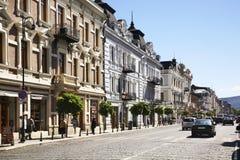 Agmashenebeli aveny i Tbilisi georgia Arkivbilder