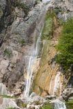 Agnanta瀑布在希腊 免版税库存照片