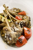 Agneau avec des légumes Photos stock