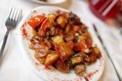 Agneau avec les légumes cuits Photographie stock