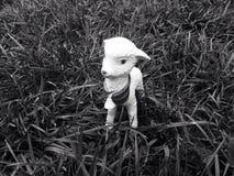 Agneau blanc de jouet Photographie stock