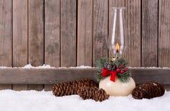 Agneau de Noël dans la neige Images stock