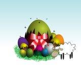 Agneau de Pâques illustration de vecteur