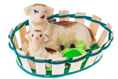 Agneau de pâte d'amande de Pâques photo stock