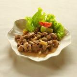 Agneau mariné frit, cuisine libanaise. Images libres de droits
