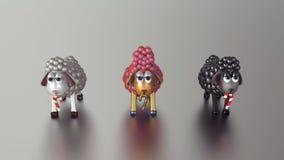 agnelli dorati 3D! Buon anno! Fotografia Stock