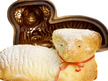 Agnello con la vaschetta Fotografia Stock
