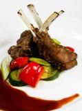 Agnello con le verdure Immagini Stock