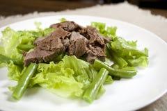 Agnello fritto e fagiolino verde Siliculose Immagine Stock Libera da Diritti
