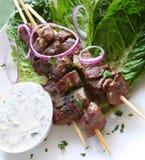 Agnello Kebabs Fotografie Stock Libere da Diritti