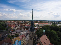 Agnes Church Altenburg Germany aerial view Royalty Free Stock Image