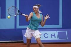 Agnes Szavay in WTA Prague tournament Stock Photos