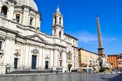 ` Agnese de Sant dans l'église Agone de Piazza Navona, Rome, Italie, esprit photos libres de droits