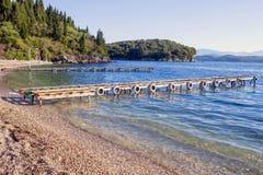 Agni plaża Corfu Zdjęcie Stock