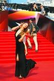 Agnia Ditkovskite överför kyssar till fans Royaltyfria Bilder