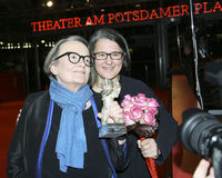 Agnieszka Ολλανδία και η κόρη της και συνδιευθυντής Kasia Adamik Στοκ Φωτογραφίες