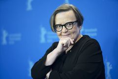Agnieszka Holland poses at the `Mr. Jones. ` photocall during the 69th Berlinale International Film Festival Berlin at Grand Hyatt Hotel on February 10, 2019 in stock images