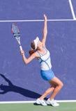 Agnieszka RADWANSKA at the 2009 BNP Paribas Open. Tennis tournament, in Indian Wells, California Royalty Free Stock Photography