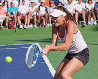 Agnieszka Radwanska at the 2010 BNP Paribas Open Royalty Free Stock Photo