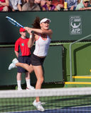 Agnieszka Radwanska at the 2010 BNP Paribas Open Royalty Free Stock Image