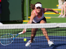 Agnieszka Radwanska at the 2010 BNP Paribas Open Stock Photo
