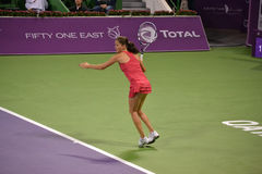 Agnieszka Radwanska. DOHA-QATAR: FEBRUARY 17: Tennis Player Agnieszka Radwanska at Qatar Total Open on February 17, 2012 in Doha, Qatar. The event was held from stock image