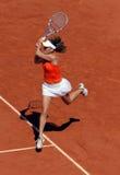 Agnieszka Radwanska (POL) bei Roland Garros 2009 Stockfotografie
