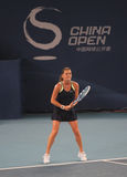 Agnieszka Radwanska (POL.) in China opent 2009 Stock Foto