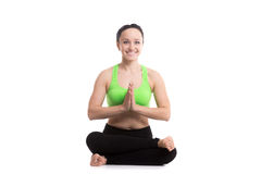 Agnistambhasana joga poza Obraz Stock