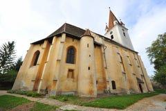 Agnita stärkte kyrkan, Transylvania, Rumänien Royaltyfria Bilder