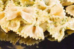 Agnolotti al pesto Stock Photo