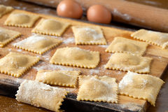 Agnolotti Pasta Stock Photo
