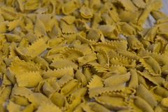 Typical pasta of the Langhe: agnolotti Royalty Free Stock Photos