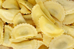Agnolotti pasta stuffed with spinach and ricotta cheese Royalty Free Stock Images
