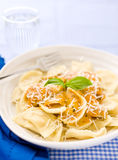 Agnolotti pasta with tomato rosa sauce Stock Photography