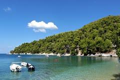 Agnontas海滩 免版税图库摄影