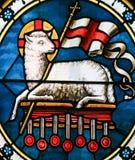 Agnus Dei - cordeiro do deus - vitral imagens de stock