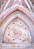 Agnus Dei niesie Chrześcijańską flaga, portal Florencja katedra Obraz Royalty Free