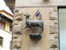 Agnus dei - sculpture of a sheep in Florence, Toscana, Italy Stock Image