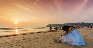Agonda plaża Południowy Goa, India Fotografia Royalty Free