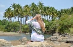 Agonda plaża Południowy Goa, India Fotografia Stock
