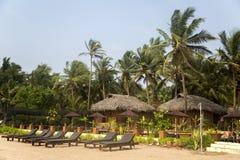 Agonda plaża przy Goa, India Obrazy Royalty Free