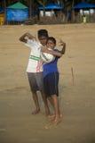 Agonda plaża w Goa, India Zdjęcia Royalty Free