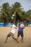 Agonda plaża w Goa, India Zdjęcia Stock