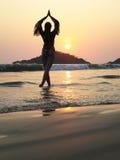 Agonda strand Södra Goa, Indien arkivfoto