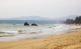 Agonda strand, södra goa, Indien Arkivfoto