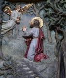 Agonia w ogródzie, Jezus w ogródzie Gethsemane Fotografia Royalty Free