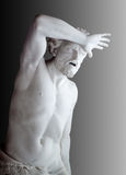 Agony of Cain. Marble statue of Agony of Cain from Bible. Hermitage in st. Petersburg, Russia royalty free stock photos