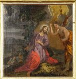 Agony in the Garden, Jesus in the Garden of Gethsemane. Altarpiece in the Church of the Saint Barbara in Velika Mlaka, Croatia royalty free stock images